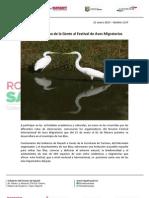 21-01-13 Boletin 1197 Apoya Gobierno de La Gente Al Festival de Aves Migratorias