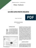 Los wikis como entornos educativos