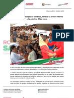 23-01-13 Boletin 1208 La señora Ana Lilia López de Sandoval, rendirá su primer informe este próximo 30 de enero