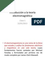 Introducción a la teoría electromagnética clase 1