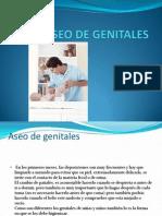 Aseo de Genitales