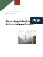 Mayor Riesgo Infantil Ante Las Toxinas Medioambientales
