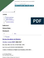 Revista Brasileira de História - Centros e periferias no mundo luso-brasileiro,1500-1808
