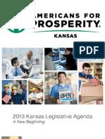 Americans for Prosperity-Kansas Legislative Agenda for 2013