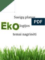 Sueigų planas ekologijos temai nagrinėti