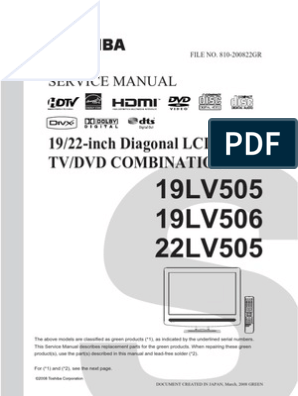 Toshiba | Cable Television | Compact Disc