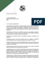 Carta de CI a Gobernador Dr Geraldo Alckmin