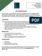 Job Opportunity for I&E Planner