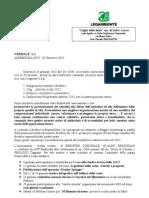 VERBALE  n. 1 - Assemblea Soci  (20 Gennaio 2013)