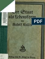 RUDOLF KJELLEN_Der Staat Als Lebensform