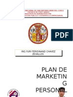 Plan de Marketing Yuri Chavez Zvallos