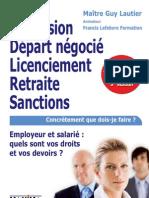 Démission Départ négocié Licenciement Retraite Sanctions