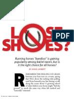barrel race barefoot
