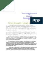 Número de Avogadro y concepto de mol