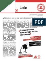 Agitación. Colectivo de Obreros de la UJCE en León