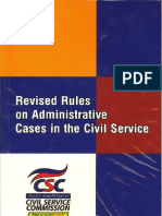 Revised Rules on Administrative Cases in the Civil Service Commission