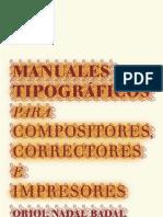 Codigos Tipograficos Imprenta Manual