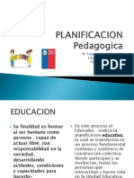 PLANIFICACION Pedagogica