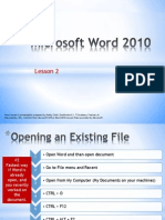 Word Lesson 2 PowerPoint