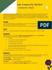 Newlands Community Market Info sheet
