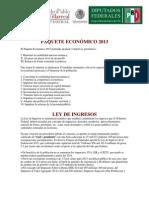 Paquete Económico 2013