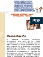 Programa Salud Reproductiva y Lactancia