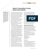 Mitigating IT Vulnerabilities Provides Continual Fraud Prevention
