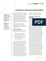 Small Business IT Governance Implementation