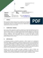 Silabo Marketing de Servicios Al Cliente 01 2012