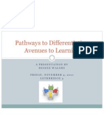 pathways to differentiation - final presentation