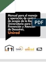 Manual para el manejo y operación de centros de Acopio de UNIRED