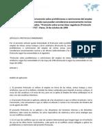 """Protocolo adicional a la Convención sobre prohibiciones o restricciones del empleo de ciertas armas convencionales que puedan considerarse excesivamente nocivas o de efectos indiscriminados, """"Protocolo sobre armas láser cegadoras (Protocolo IV)"""". Viena, 13 de octubre de 1995"""