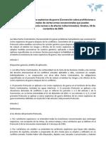 Protocolo sobre los restos explosivos de guerra. Ginebra, 28 de noviembre de 2003