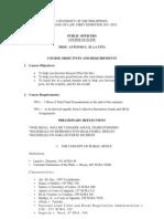 Public Officers Outline
