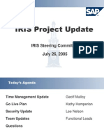 Project Update - Steering Committee-July 26 2005