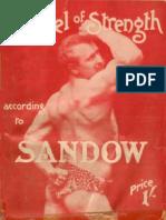"""Gospel Of Strength """"Eugen Sandow""""."""