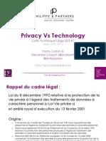 Café Numérique Liège - Privacy vs Technology - Philippe & Partners