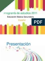 Programa de Estudios 2011 Secundaria