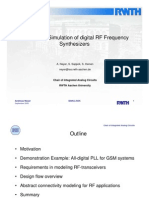 HDL based Simulation of digital RF Frequency Synthesizers
