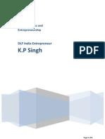 Entrepreneur K.P.Singh