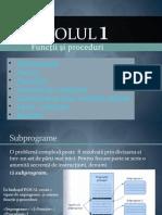 Functii Si Proceduri