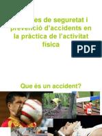 Mesures de seguretat i  prevenció d'accidents en la