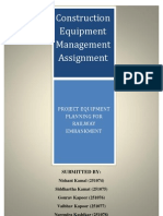 Construction Equipment Management