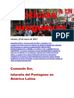 Noticias Uruguayas Viernes 25 de Enero Del 2013