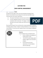 Financial management - Working capital management