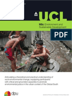 MSc Environment and Sustainable Development at the Development Planning Unit. University College London