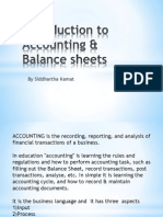 Introduction to Accounting & Balance sheets