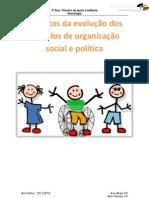 Aspectos da evolução dos modelos de organiação social e política