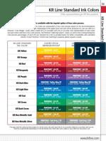 KR Line Standard Ink Colors