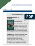 Avance de 2013, Libros Infantiles y Juveniles